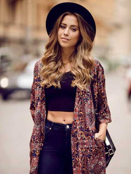 model blouse kimono girl