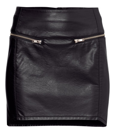 H&M Imitation leather skirt £5