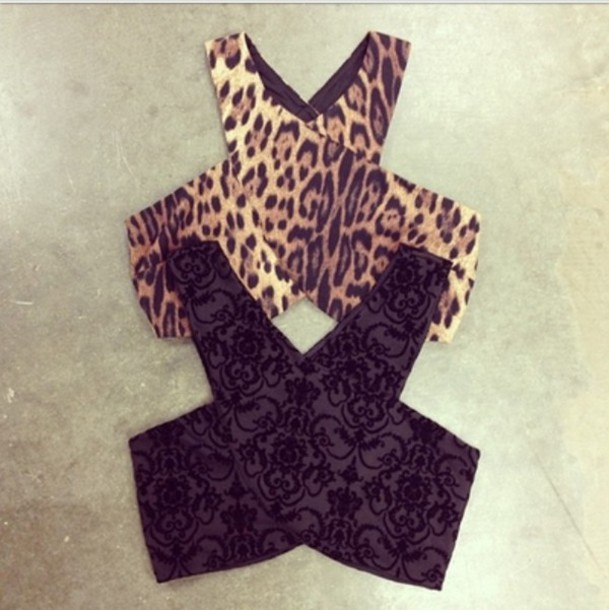 shirt leopard print cut out top black and cheetah crop tops printed crop top tank top top black leopard print brown dress crop tops embrodering velvet suede emboridery
