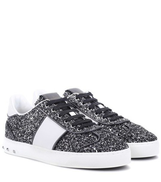 Valentino glitter sneakers black shoes