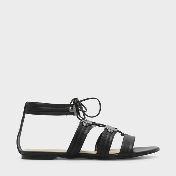sandals lace black shoes