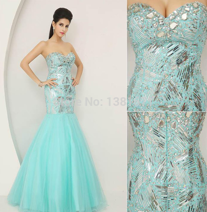 Aliexpress.com : Buy 2014 Newest Luxury Sky Blue Tulle Crystal Strapless Bodycon Fashion Mermaid Pageant Dresses from Reliable pageant dresses for babies suppliers on Aojia Top Evening Dress