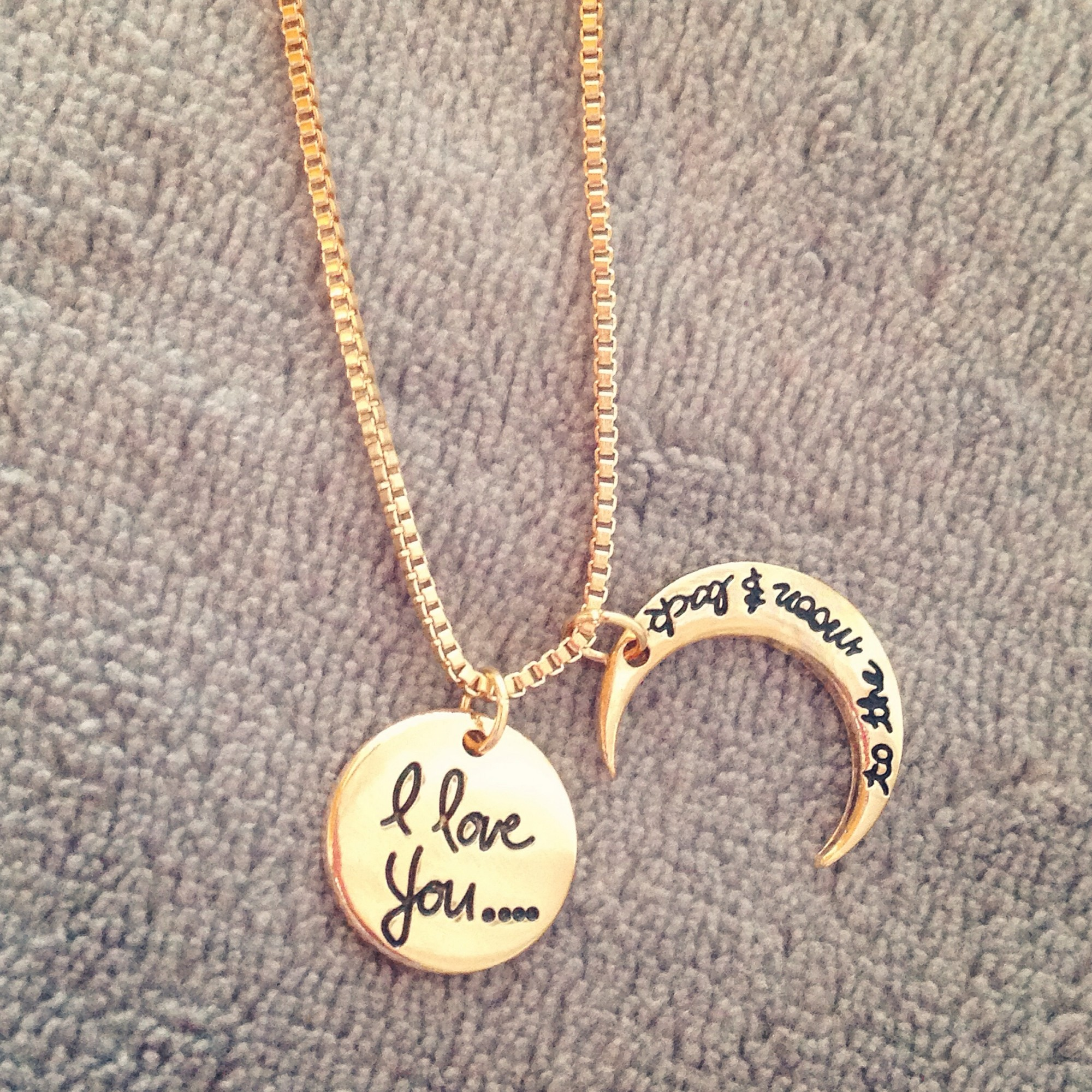 I love you to the moon and back necklace by mir
