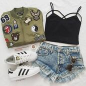 jacket,military style,green,bomber jacket,ootd,outfit,patch