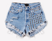 Festival shorts tribal aztec frayed destroyed by summershere