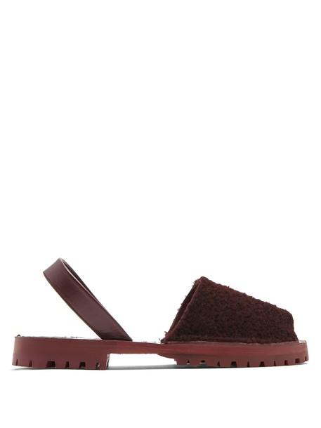 GOYA sandals burgundy shoes