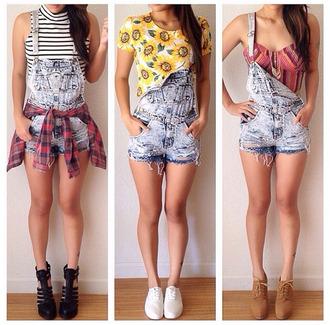 short overalls denim overalls