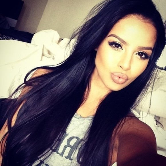 hair make-up tutorial lipstick eyeliner eyelashes