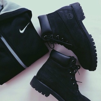 shoes timberlands timberland boots style cute black black boots