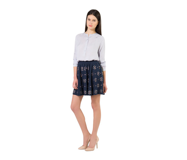 skirt blue skirt floral