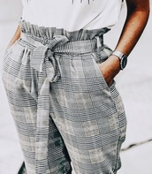 pants,grey,elastic waist