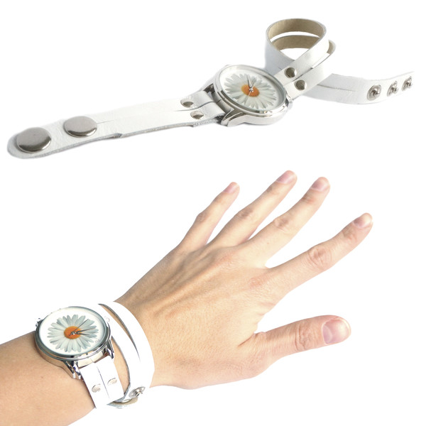 jewels white watch watch ziz watch ziziztime camomile