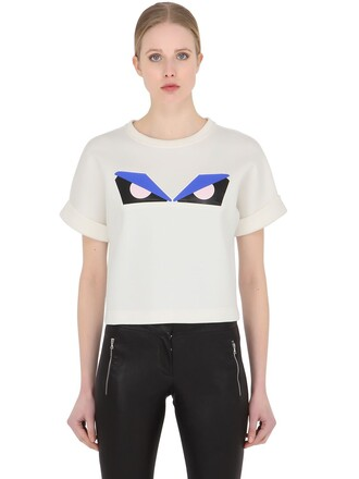 t-shirt shirt cropped cotton white top