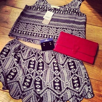 dress jessie j pattern blue purple black skirt crop tops pink bag
