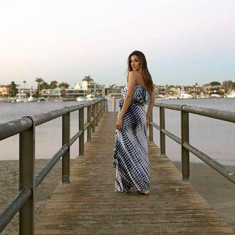skirt tie dye high waisted maxi skirt