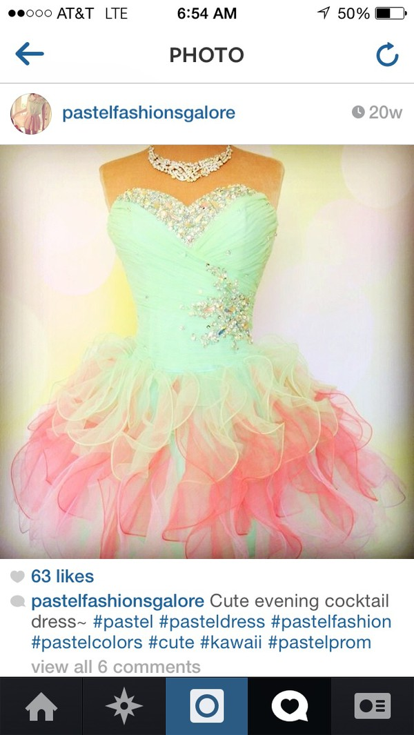 mint pastel pink cocktail dress rhinestones