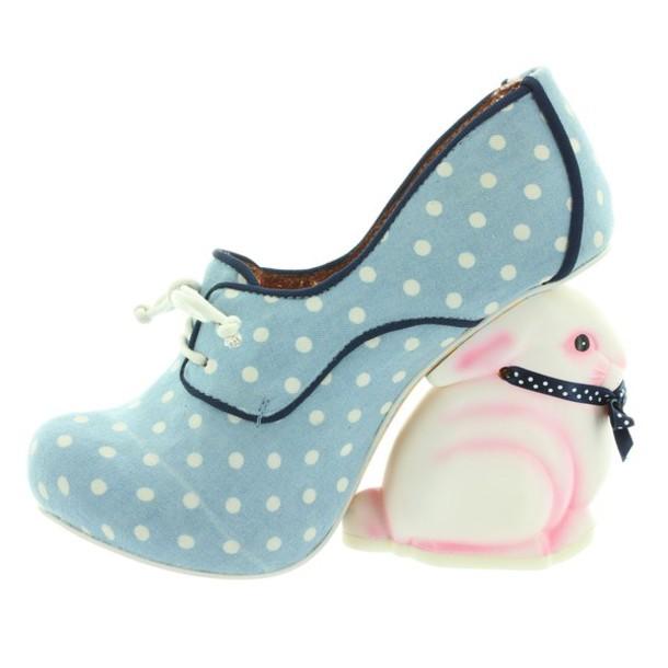 Shoes Bunny Polka Dots Irregular Choice Pink Japanese