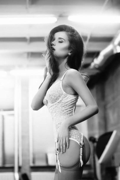 Underwear Sexy Corset Black And White