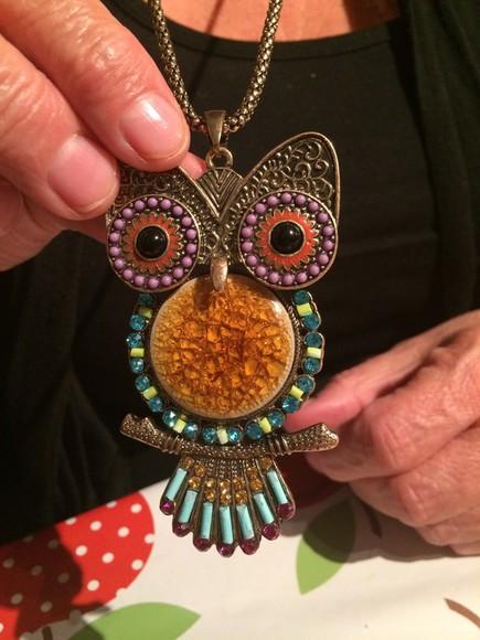 owl jewels necklace jewellery,