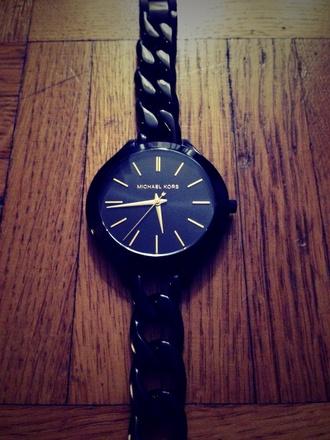 jewels michael kors black watch style fashion black watch