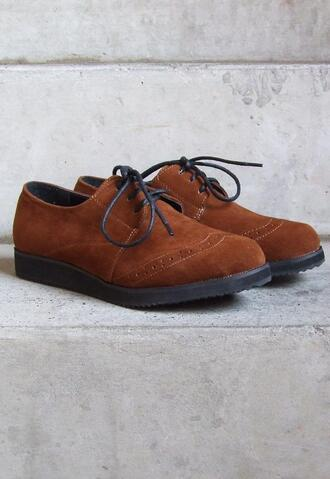 derbies shoes brouges suede shoes flats