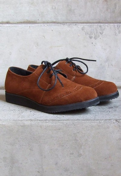 shoes derbies brouges suede shoes flats