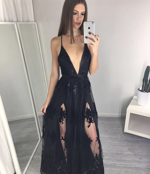 Dress Blackdresses Black Dress Black Fancy Dress Formal Dress