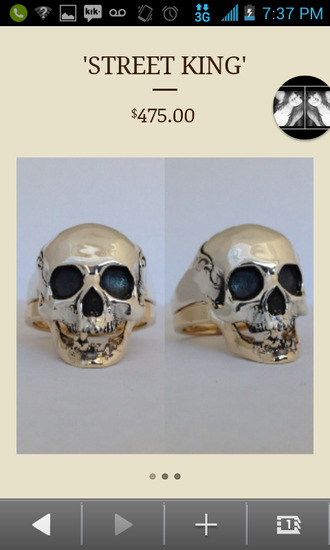 jewels skull ring skull body jewelry skull