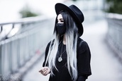 hair accessory,mouth mask,black