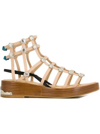 sandals nude shoes