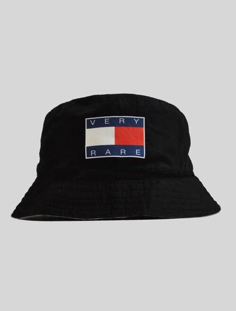 hat bucket hat black soft ghetto