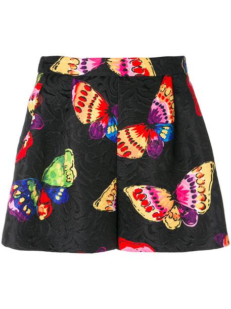 BOUTIQUE MOSCHINO shorts women butterfly cotton print black