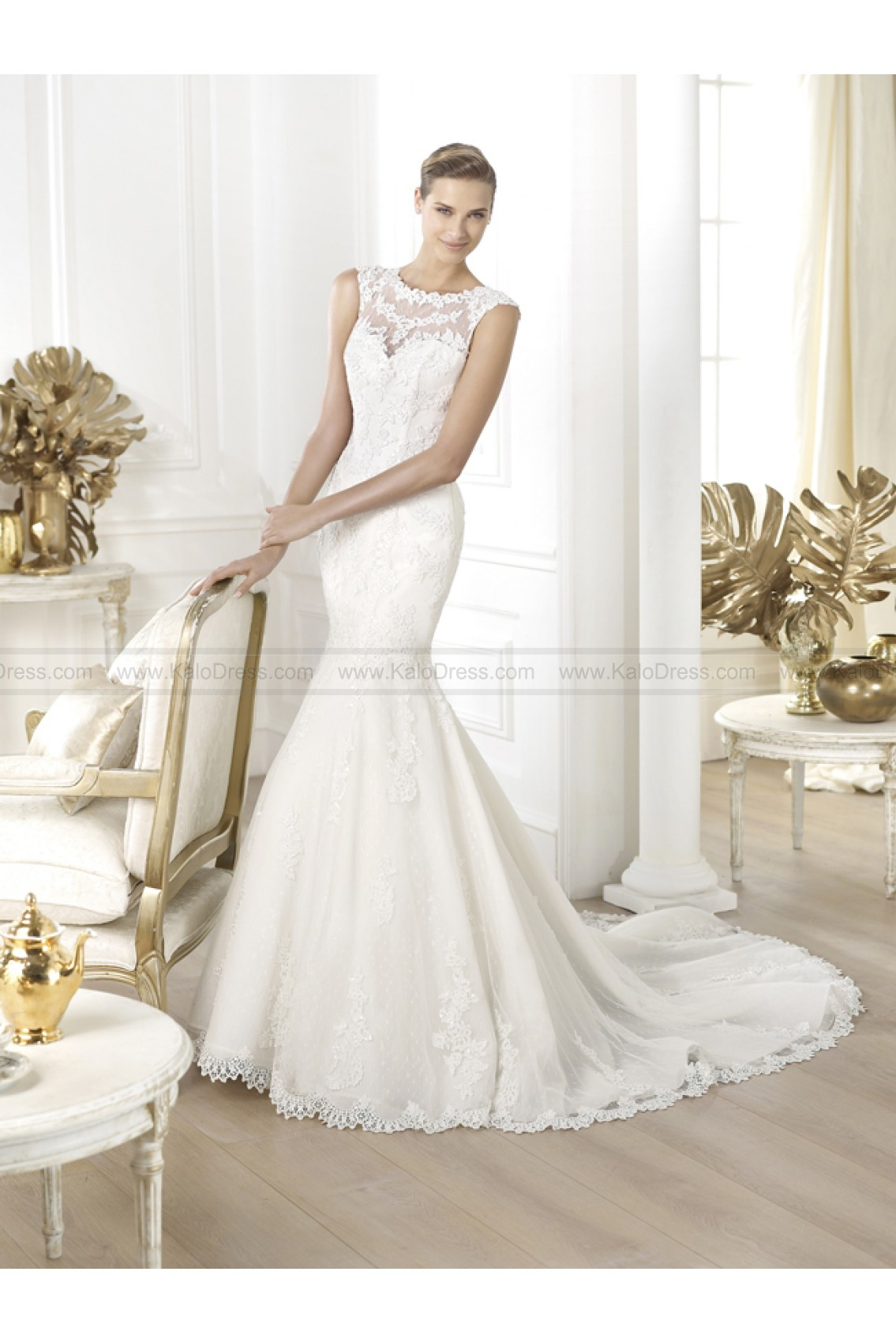 Pronovias Wedding Dresses - Style Landel - Wedding Dresses 2014 New - Formal Wedding Dresses
