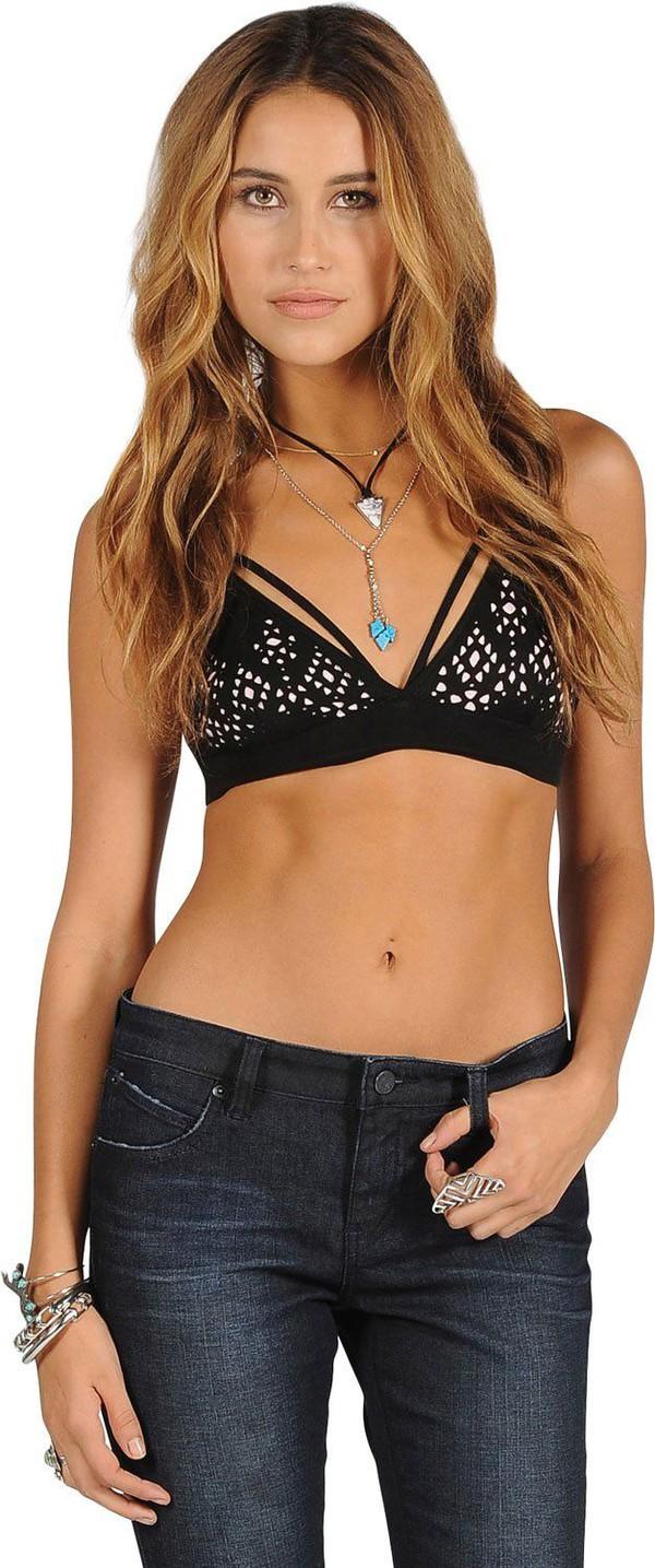 swimwear bikini bikini top strappy bikini jeans