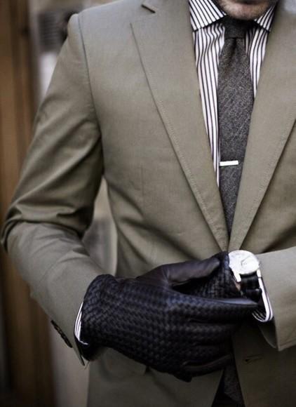 classy menswear mens suit gloves