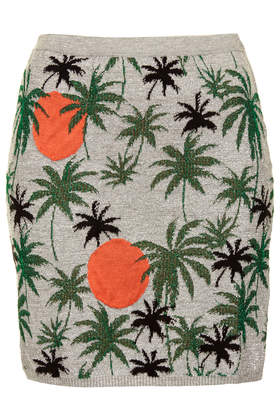 Palm Tree Lurex Skirt - The New Tropical - We Love - Topshop