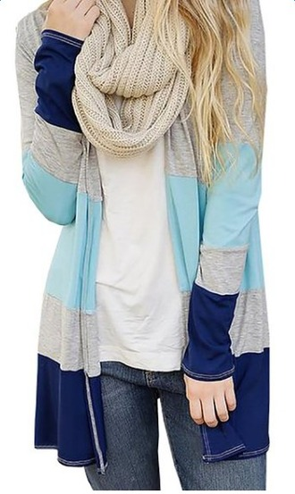 cardigan autumn wear coat striped sweater sweater long sleeves casaual open front
