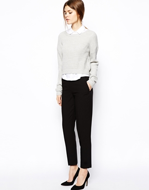 ASOS | ASOS Cigarette Trousers in Crepe at ASOS