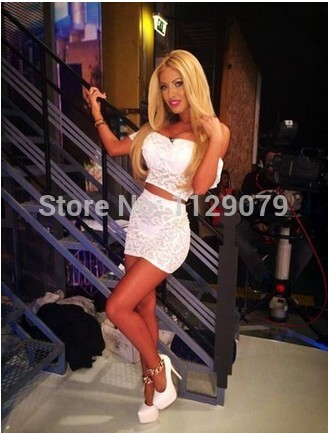 Aliexpress.com : Buy 2014 new fashion two pieces elegant white lace bodycon bandage party dress sexy club sexy women outfit ladies mini dress ZM005 from Reliable dress 00 suppliers on sexy dress 2014