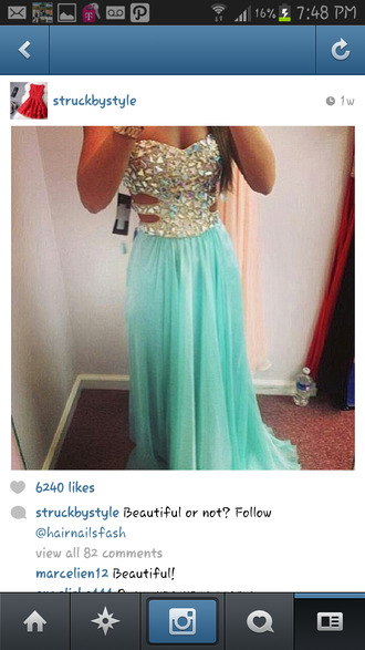 dress prom dress instagram teal blue sparkles shiny long prom homecoming diamonds blue dress glamour bling turquoise