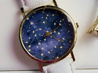 jewels watch stars cool blue fashion style trendy galaxy print navy beautifulhalo accessories accessory cute hipster tumblr urban teenagers urban outfitters constellation constellations lunar astronomy astronomer leather vintage
