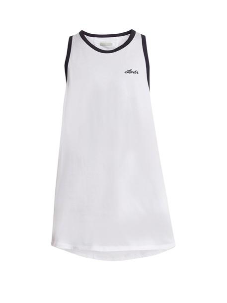 lndr tank top top cotton print white