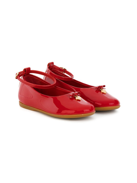 Dolce & Gabbana Kids ankle strap leather red shoes