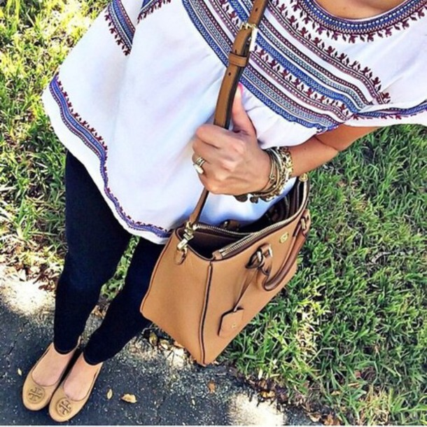 top aztec outfit white t-shirt shirt nice print white blouse