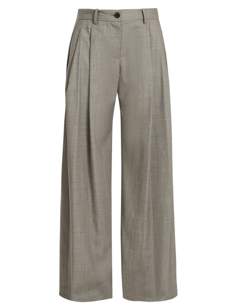 Nili Lotan wool grey pants