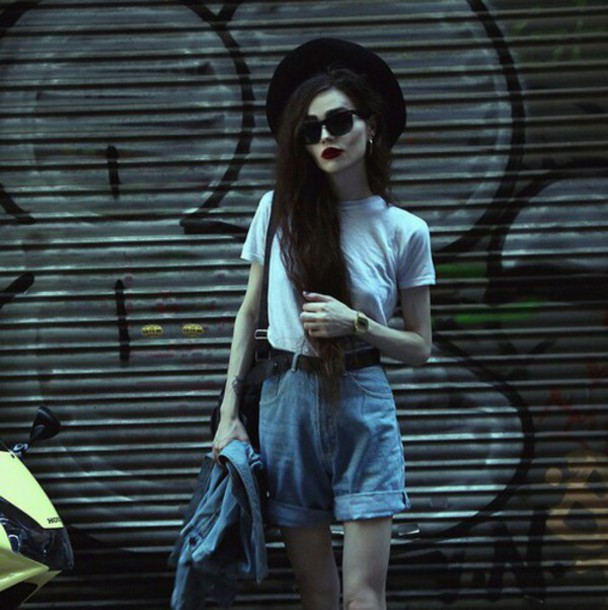 jeans grunge style short rad