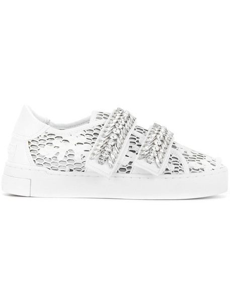 women embellished sneakers white shoes