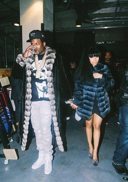 coat fur coat nicki minaj