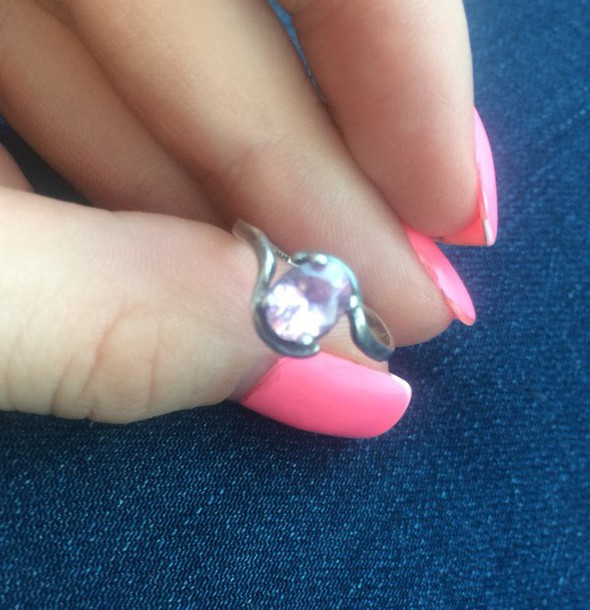 jewels pink ring