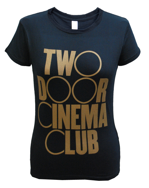 Ladies Old Logo Tour T-Shirt (Black) | The Official Webstore for Two Door Cinema Club Merchandise